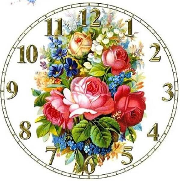 Diamond Painting Flowers Bouquet Clock - OLOEE