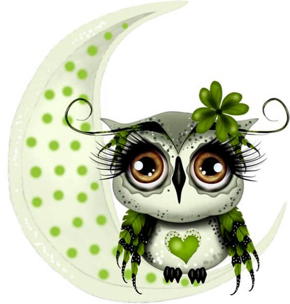 Diamond Oloee Half Moon Owl - OLOEE