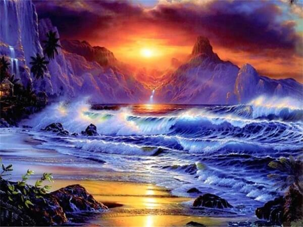 Diamond Painting Breath Taking Waves Of Sea - OLOEE