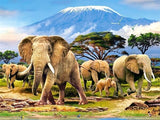 Diamond Painting A Group Of Elephant Or Herd - OLOEE