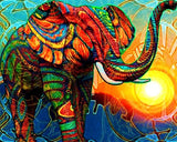 Diamond Painting Morning Quest Elephant - OLOEE
