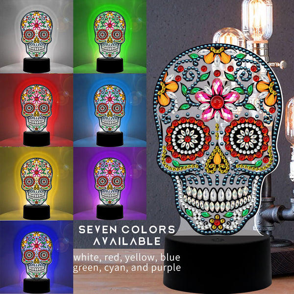 Sugar Skull Diamond Painting Lamp