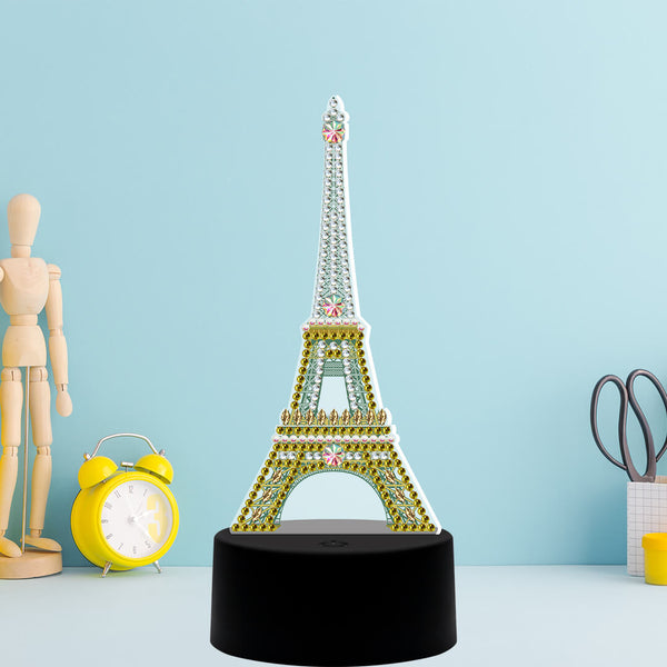 Eiffel Tower Diamond Painting Lamp