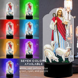 Jesus and The Sheep Diamond Painting Lamp