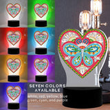 Butterfly Heart Diamond Painting Lamp