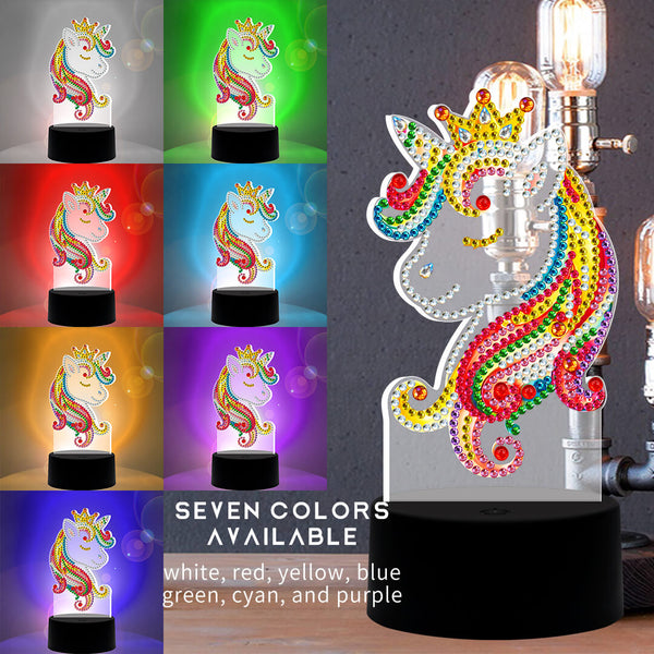 Princess Unicorn Diamond Painting Lamp
