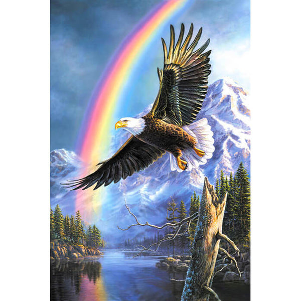 Diamond Painting Rainbow Flying Eagle - OLOEE