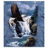 Diamond Painting Forest Eagle Fly Bird Animal - OLOEE