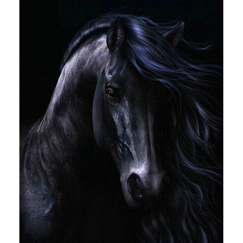 Diamond Painting Black Horse - OLOEE