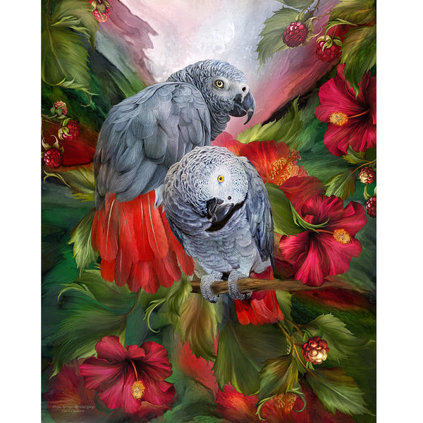 Diamond Painting Two Parrots - OLOEE