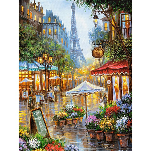 Diamond Painting Paris Street Scene - OLOEE
