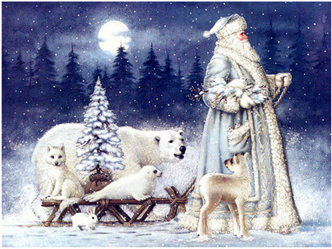 Diamond Painting Whitelotous Santa Claus & Animals - OLOEE