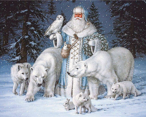 Diamond Painting Christmas Santa Claus & Animals - OLOEE