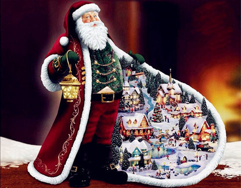 Diamond Painting Santa Claus Village - OLOEE