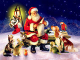 Diamond Painting Santa and Animals - OLOEE