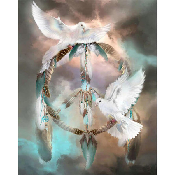 Diamond Painting Pigeon Dreamcatcher - OLOEE