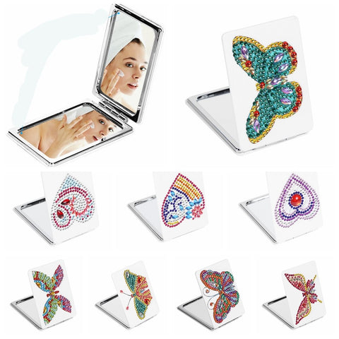 Diamond Painting DIY Mini Makeup Mirrors Diamond Painting - OLOEE