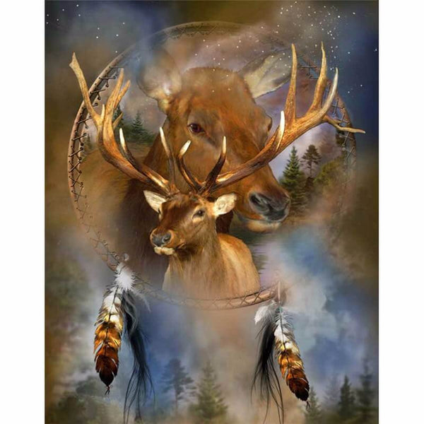 Diamond Painting Elk Dreamcatcher - OLOEE