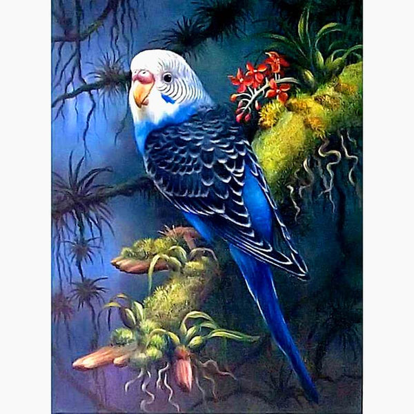 Diamond Painting Parrot On Tree Trunk - OLOEE