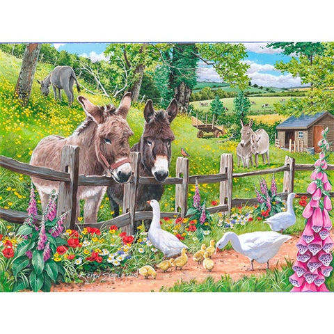 Diamond Painting Donkey Goose Farm - OLOEE