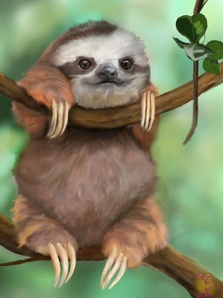 Diamond Painting Cutest Baby Sloth - OLOEE