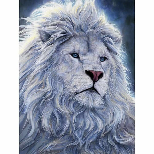 Diamond Painting White Lion King - OLOEE