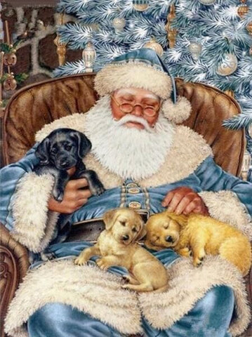 Diamond Painting Nap Time Dog Christmas - OLOEE