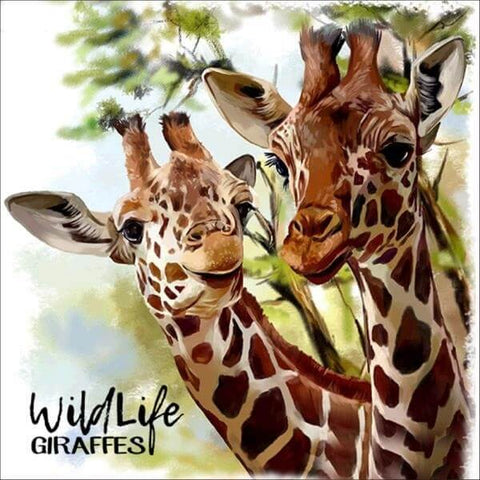 Diamond Painting Wildlife Giraffes - OLOEE