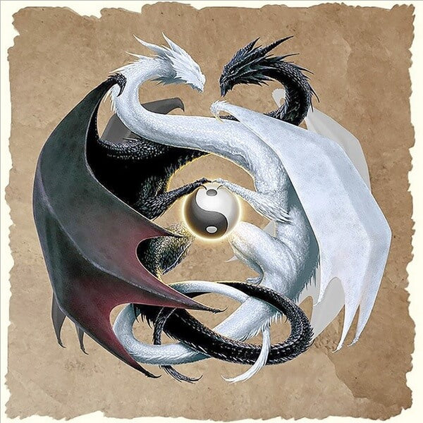 Diamond Painting Tai Chi Dragons - OLOEE