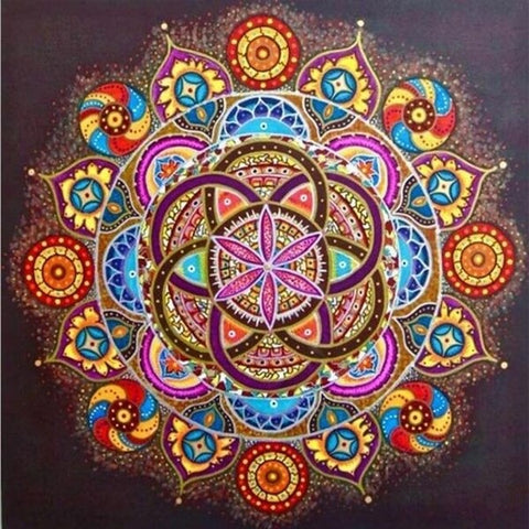 Diamond Painting Colorful Mandala - OLOEE