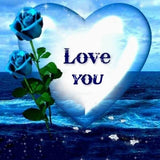 Diamond Painting Blue Roses Love You - OLOEE