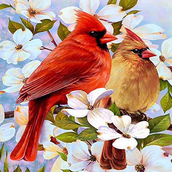 Diamond Painting Two Cardinals - OLOEE