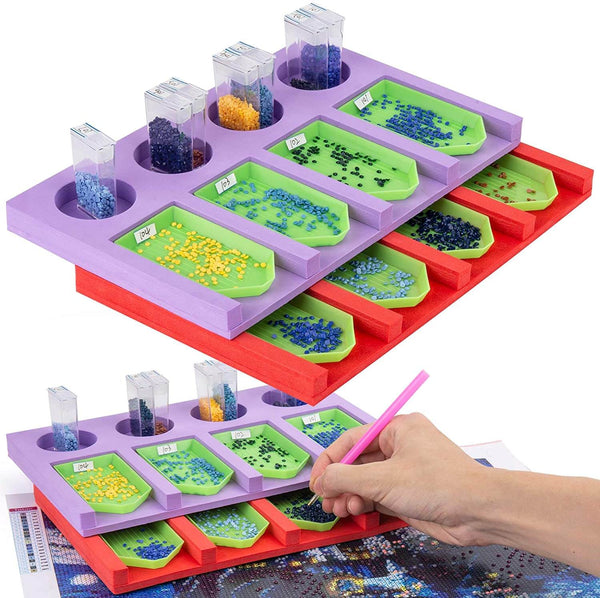 Stackable Drill Tray Organizer