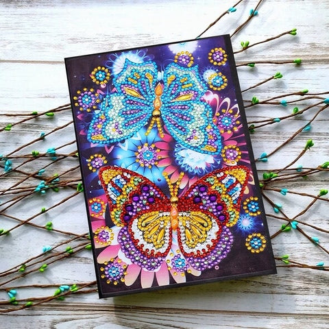 Diamond Painting Butterfly Romance Diamond Painting Notebook - OLOEE