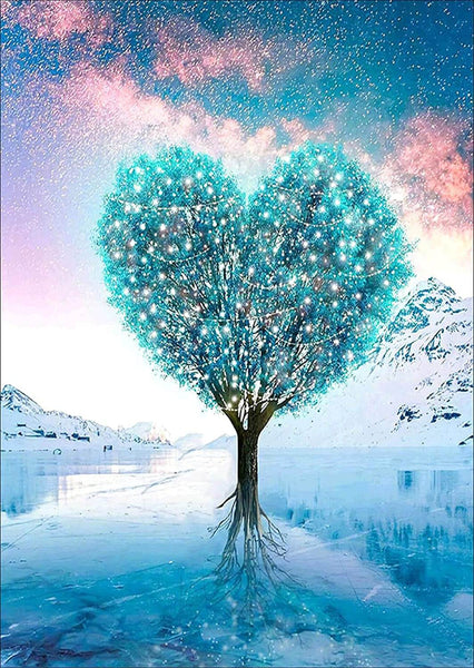Blue Heart Tree