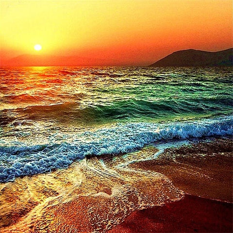 Diamond Painting Colorful Sunset Sea - OLOEE