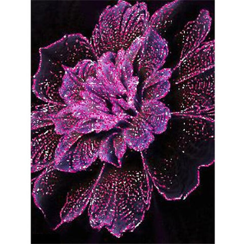 Diamond Painting Diamond Purple Flower - OLOEE