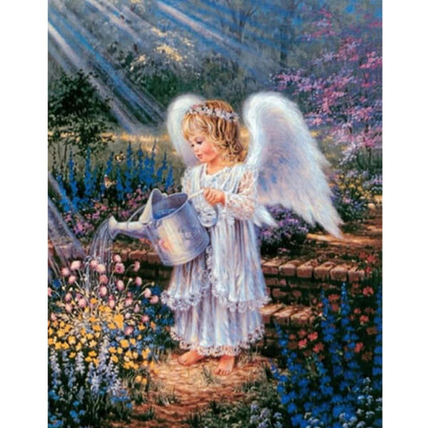 Diamond Painting Angel In Garden - OLOEE