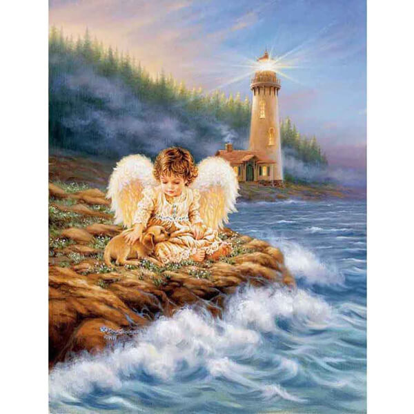 Diamond Painting Angel Lighthouse Painting - OLOEE