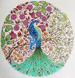 Diamond Painting Round Peacock Tree - OLOEE