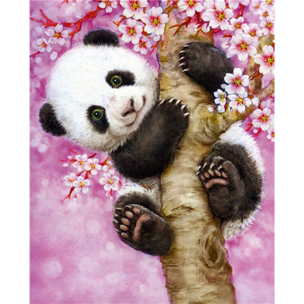 Diamond Painting Baby Panda On Tree - OLOEE