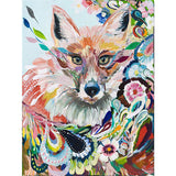 Diamond Painting Abstract Floral Fox - OLOEE