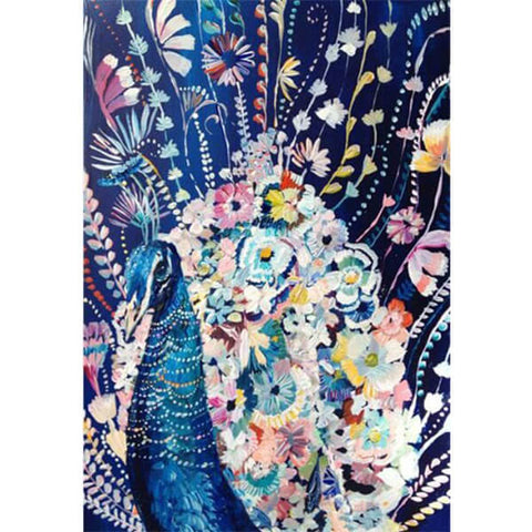 Diamond Painting Abstract Floral Peacock - OLOEE