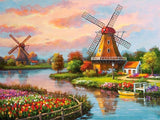 Diamond Painting Windmill Landscapes - OLOEE