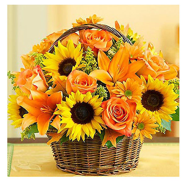 Diamond Painting A Basket of Sunflowers - OLOEE