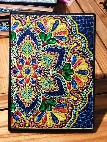 Flower Mandala Diamond Painting Notebook