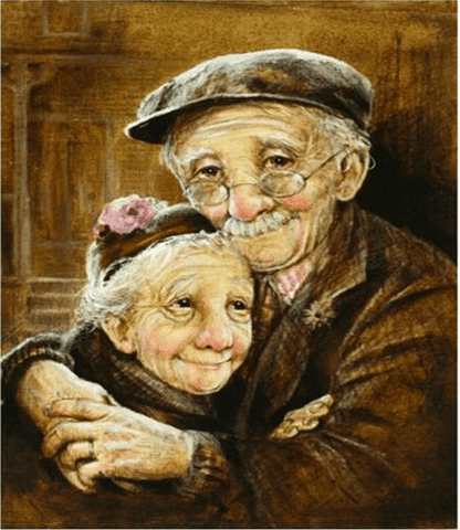 Diamond Painting Old Couple - OLOEE