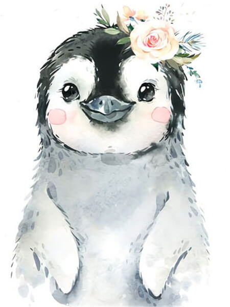 Flower Crown Penguin