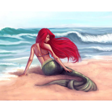 Diamond Painting Mermaid On Beach - OLOEE