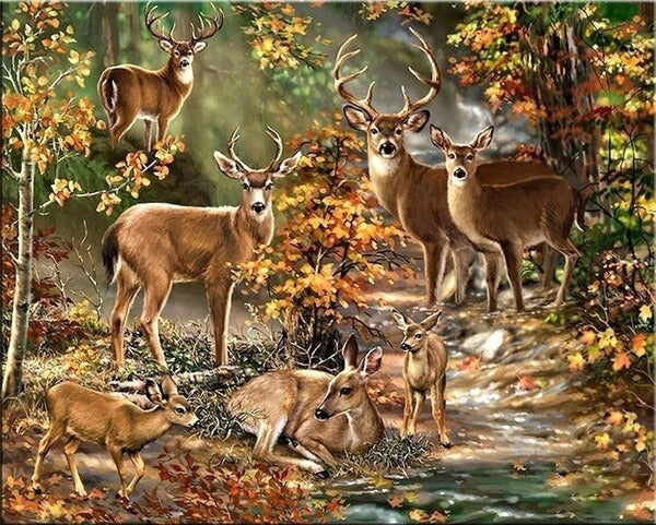 Diamond Painting Deers In The Forest - OLOEE